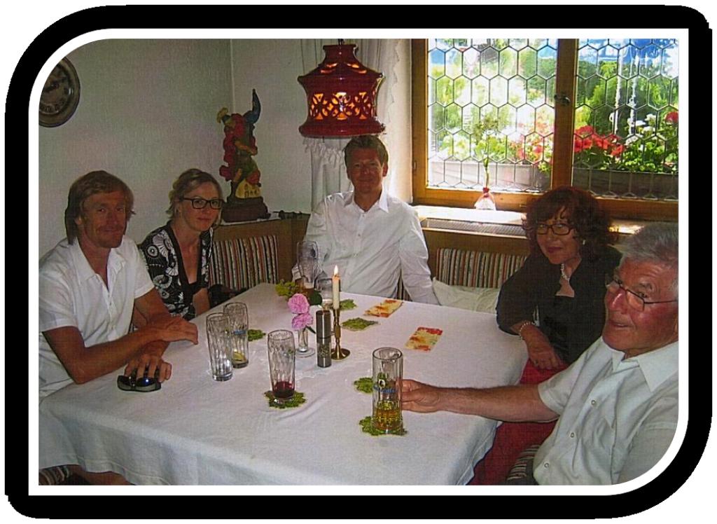 Fröhliche Gäste im Landhaus Johanna